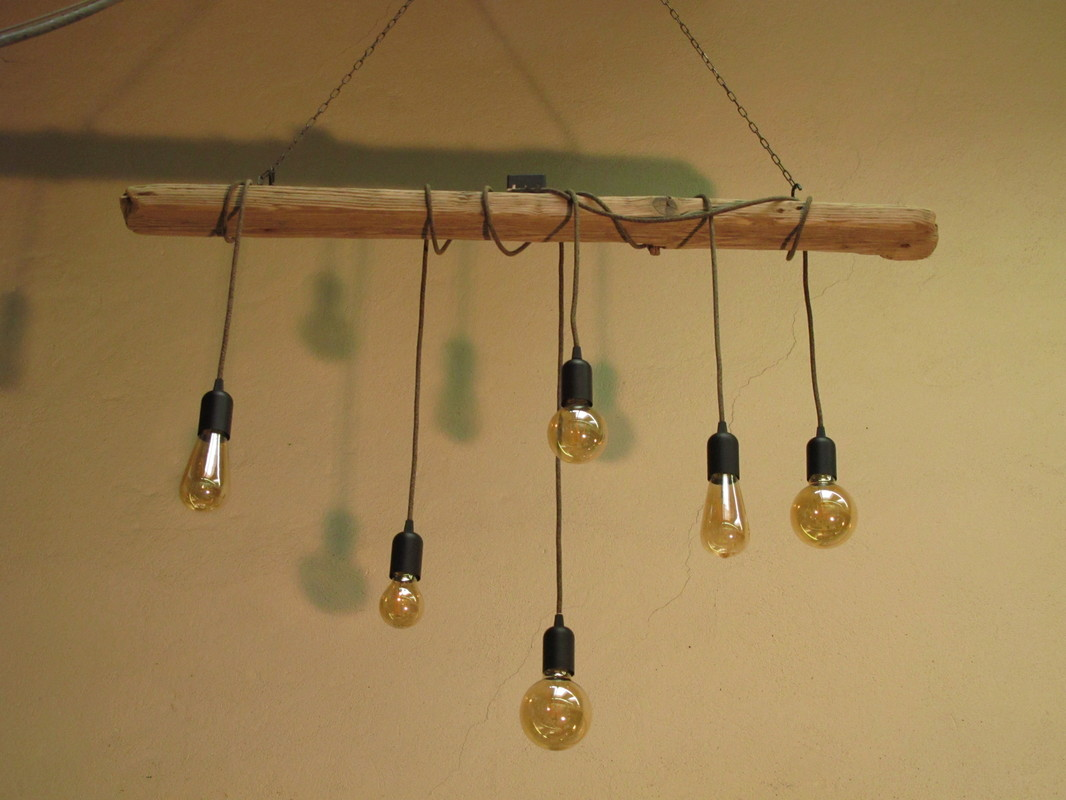 Lustre Suspension Bois Flotte Danubewings